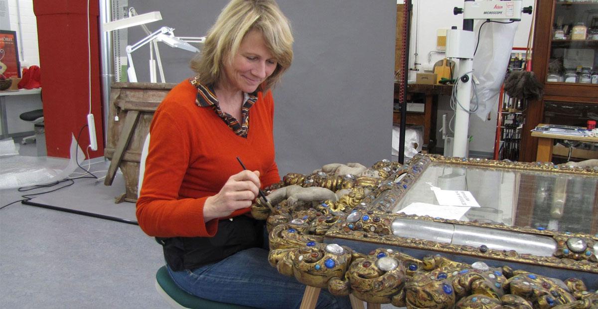 Blick in die Ateliers der Museumslandschaft Hessen Kassel (MHK)