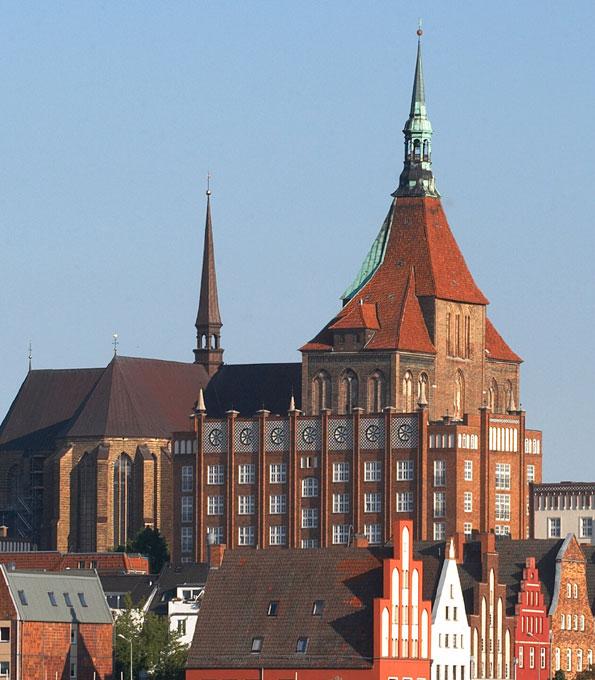 Blick auf die Rostocker Marienkirche