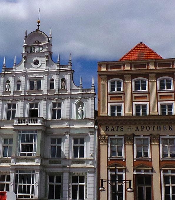 Hansehäuser am Rostocker Markt