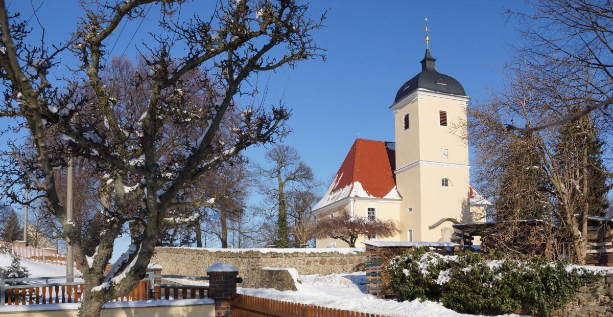 Kirche Miltitz (Klipphausen) in Sachsen
