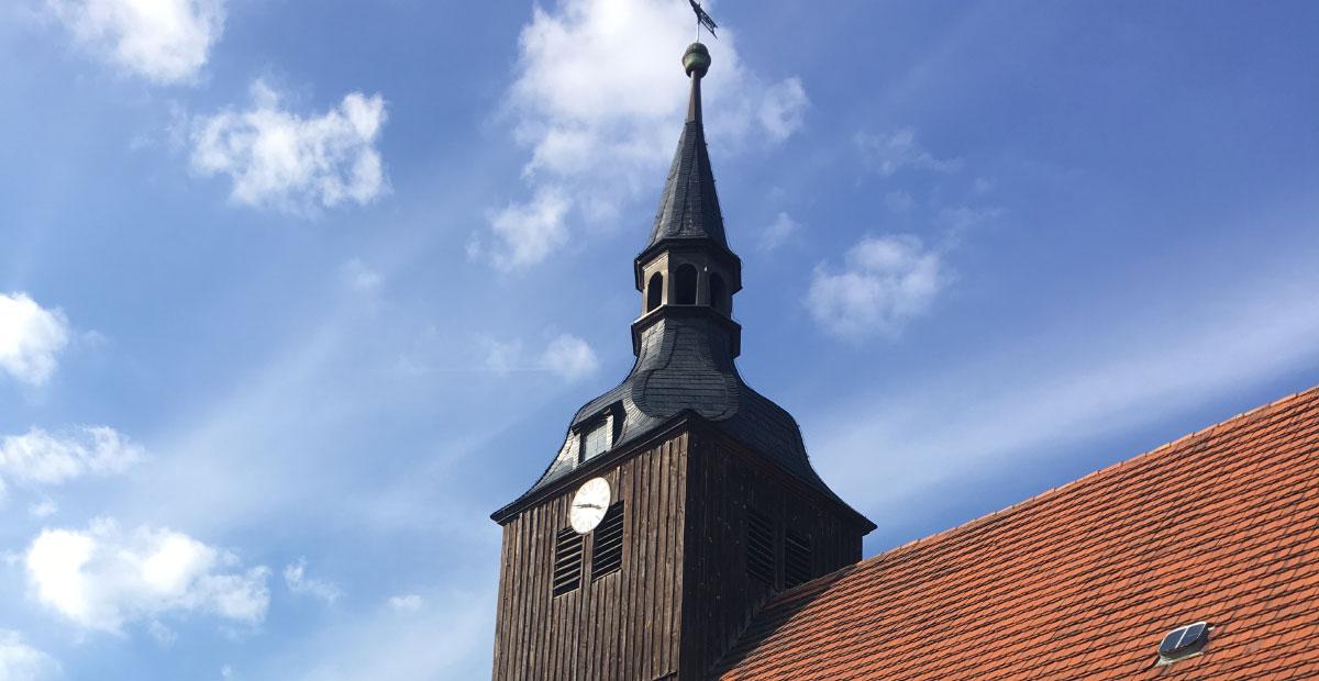 Die Dorfkirche Schlepzig ist die Titelkirche des 2020er-Flyers