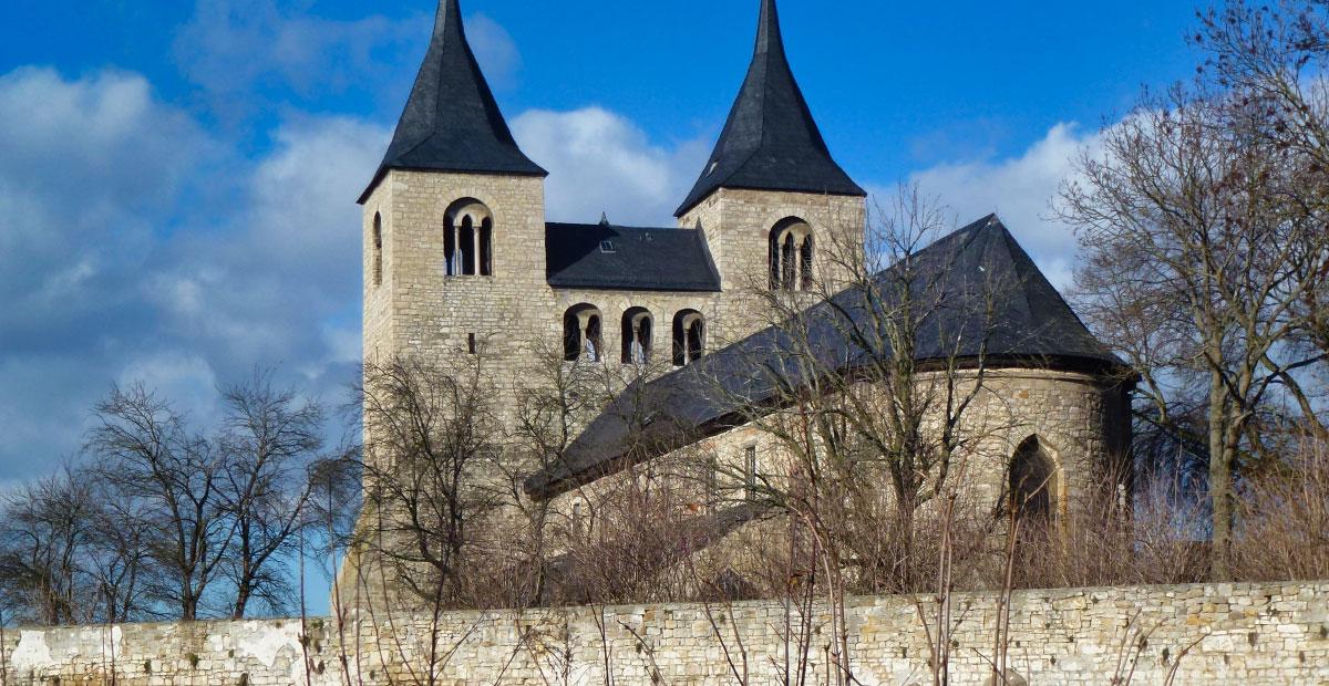 Stiftskirche St. Cyriakus in Frose (Sachsen-Anhalt). 2020 von uns gefördert.