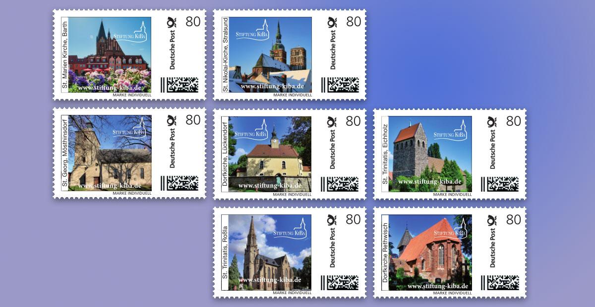Neue Briefmakren mit KiBa-Kirchen
