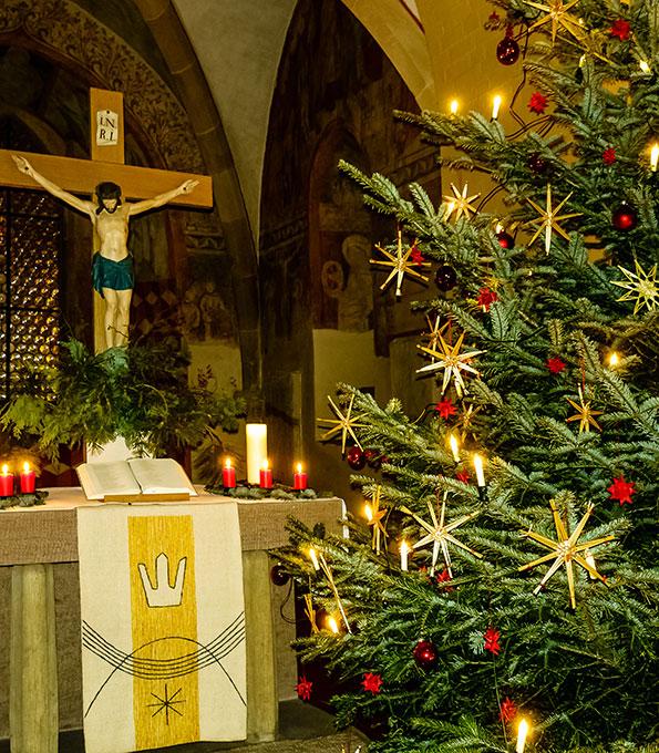 Christmesse in der Peter-und-Paul-Kirche Oberderdingen (Baden-Württemberg)