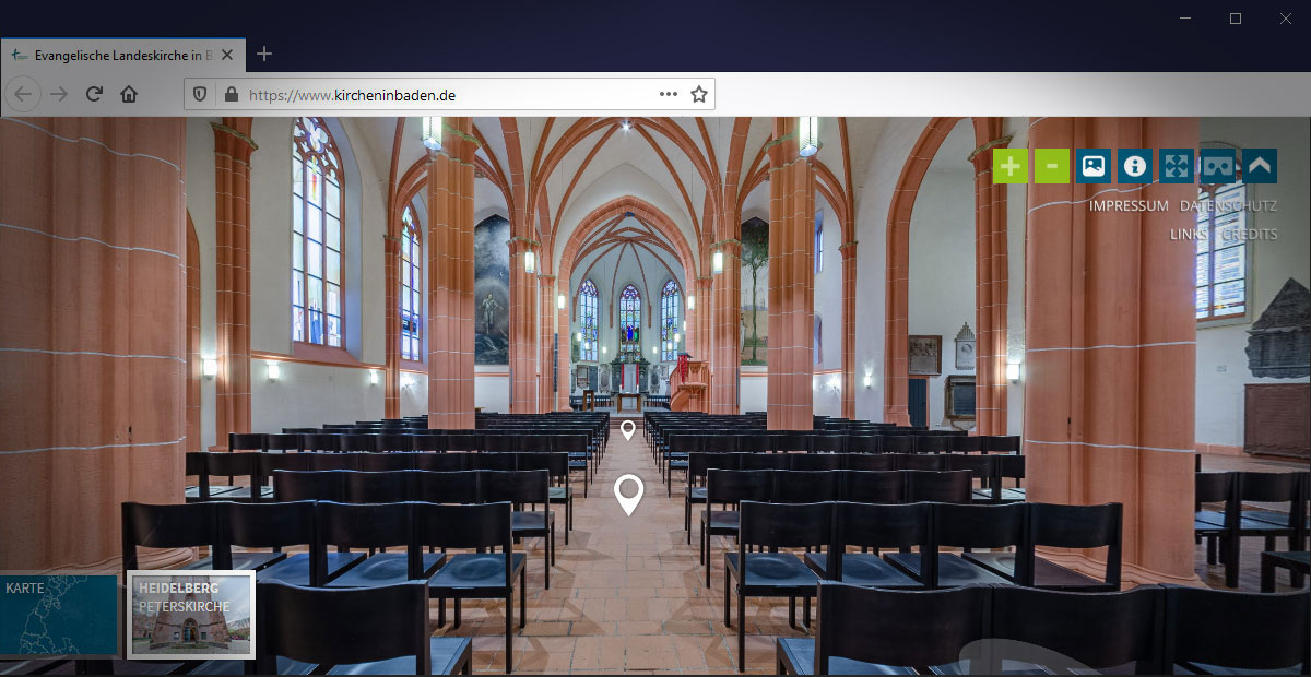 www.kircheninbaden lässt sie Kirchen virtuell erkunden
