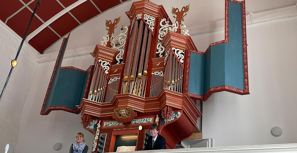 Renaissance-Orgel in der reformierten Kirche zu Uttum (Ostfriesland)