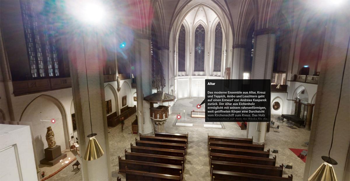 Virtuelle Kirchenführung durch Hamburgs Hauptkirche St. Petri